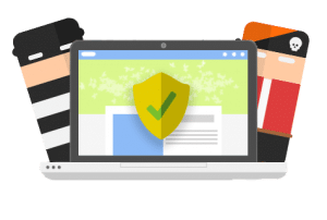 WordPress Protection Piracy Laptop